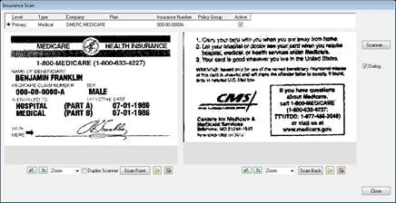 Insurance Card Scan and Save